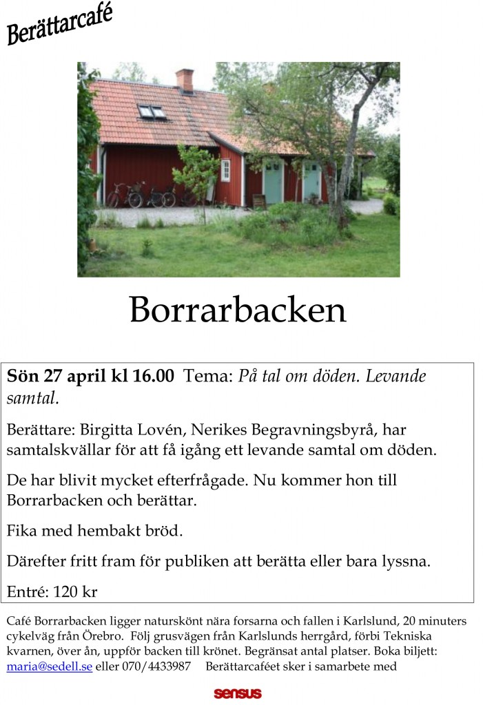berättarcafe Borrarbacken 27 april 14